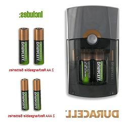 Duracell Go Mobile Charger with Rechargeable Batteries & Car