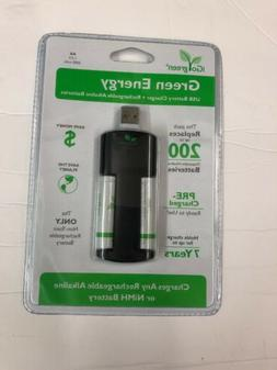 Green Energy Rechargeable Alkaline Battery Charger For AA Ba