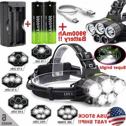 Headlamp 200000LM T6 LED Rechargeable Headlight Flashlight 9