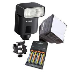 Sony HVL-F32M External Flash For Sony Cameras. Value Kit wit