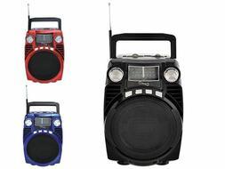 Portable Bluetooth AM/FM/USB/SD/SW1-2 Bands Radio MP3 Player