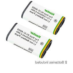 Kastar Li-ion Battery 2 Packs Replacement for Kodak KLIC-800