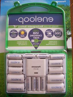 L@@K!! Panasonic Eneloop Rechargeable Battery Kit w/BQ-CC75