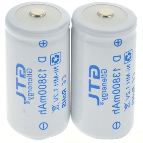 GTL Size D-Type Rechargeable Batteries