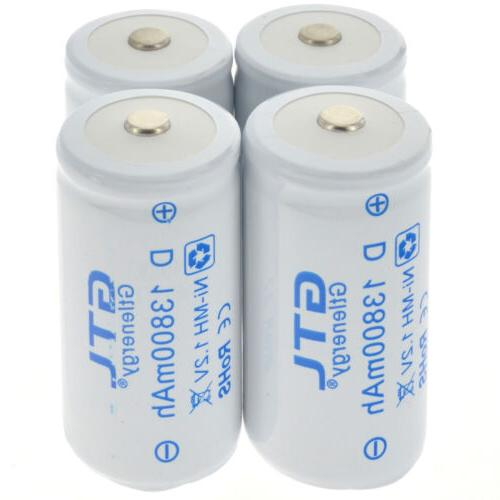 1.2V Ni-MH C D Size Rechargeable Batteries Battery High Capa
