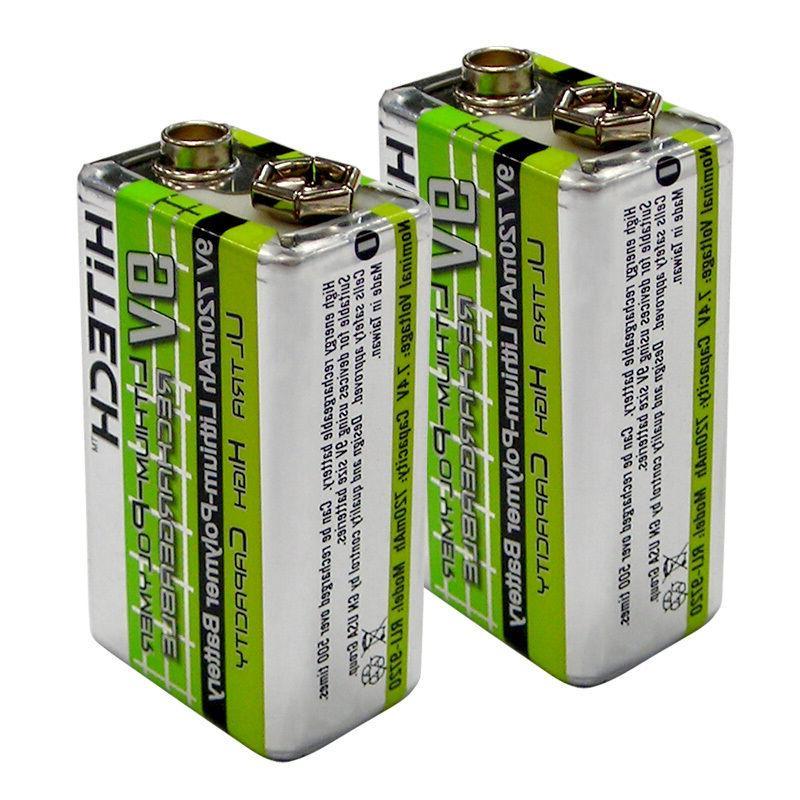1 pc HiTECH #1 9V 006P Rechargeable LiPoly 720mAh for Electr