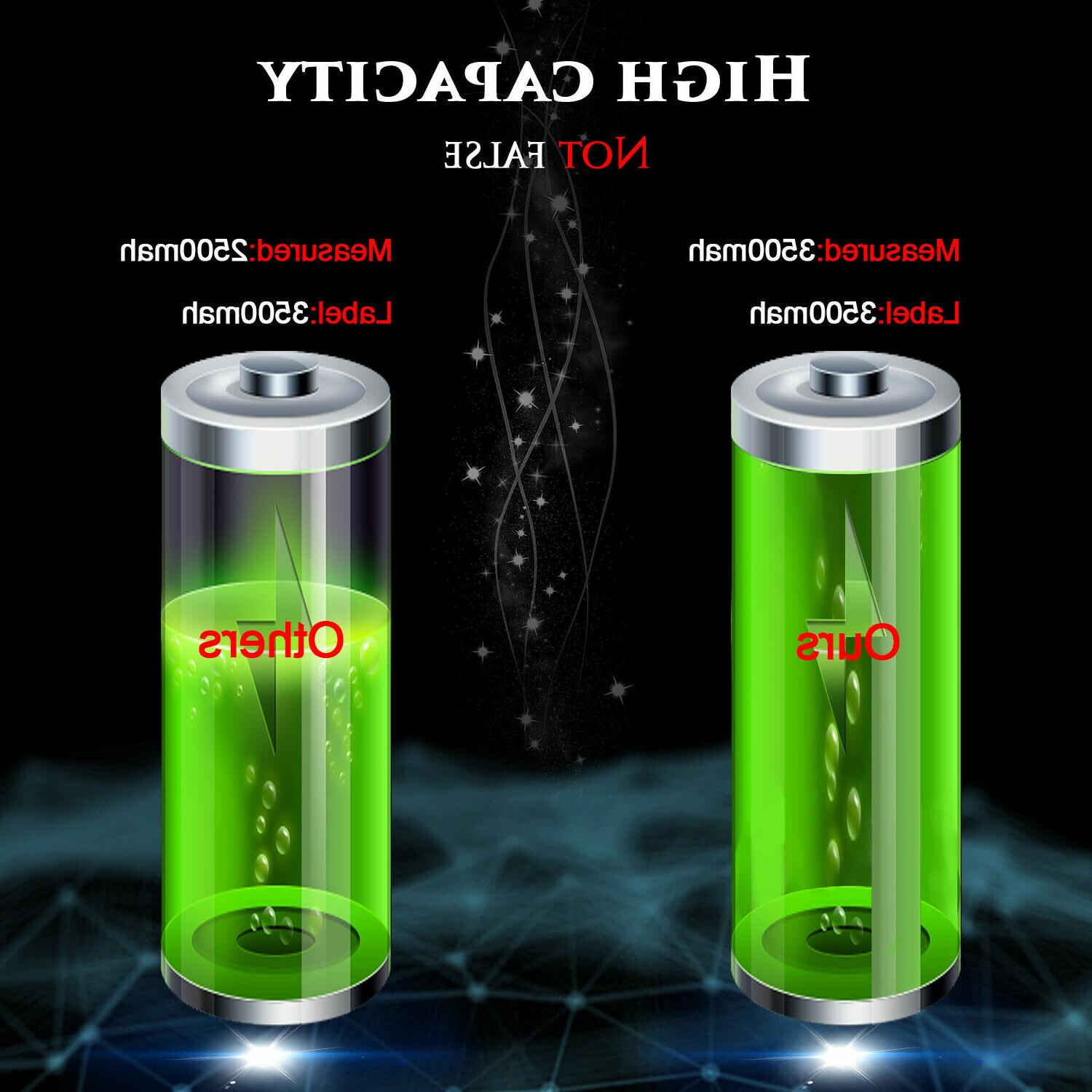 10 18650 Rechargeable Battery Smok+Case