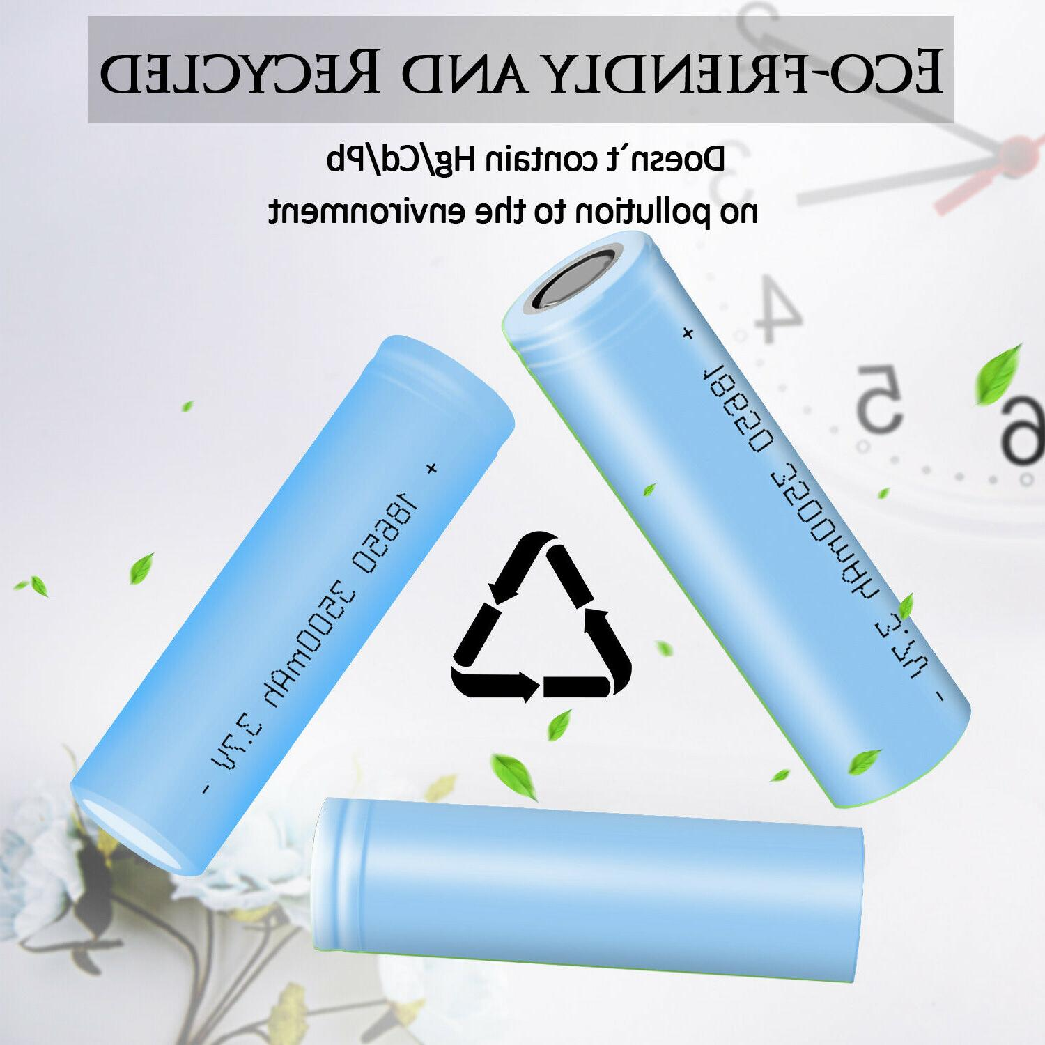 10 Batteries 3500mAh Smok+Case With Charger