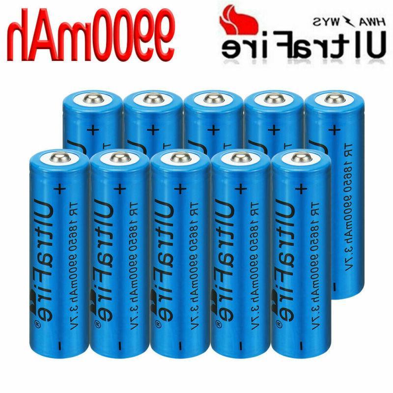 10pcs rechargeable 9900mah battery 3 7v li