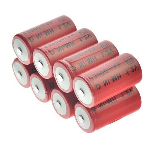 1-8pcs D Size D-Type 13000mAh 1.2V Ni-MH Rechargeable Batter