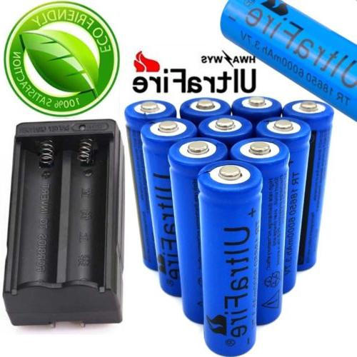 10X Battery 3.7V Li-lon For Torch