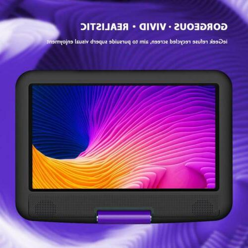 """ieGeek 11.5"""" DVD Player Card/USB 5 Hour"""