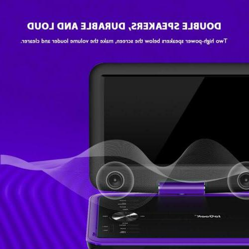 ieGeek Portable DVD Player SD Port, 5 Hour Rechargeable Battery