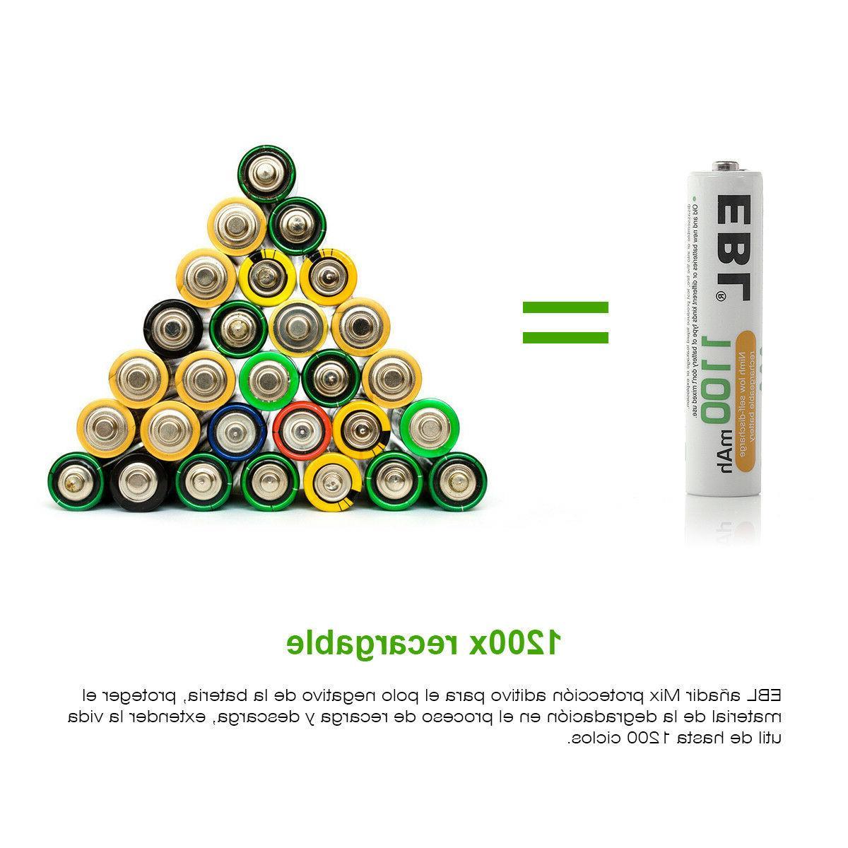 EBL Lot 2800mAh NI-MH Rechargeable Box