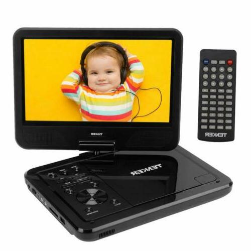 TENKER Portable DVD Player, Built-in Hours Rechargeable New