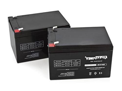 2 Pack Volt 12 Ah Rechargeable Battery 2 Pack 12V 12