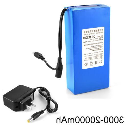 12V 3000-20000mAh Li-ion Rechargeable Battery Pack Electroni
