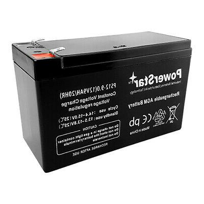 12V AGM Battery Replaces CP1290, HR9-12, BP8-12, UB1290,