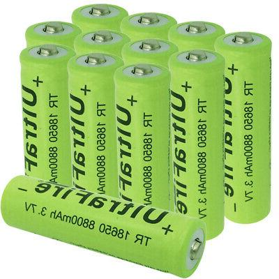 12x aaa rechargeable batteries 3 7v 8800mah