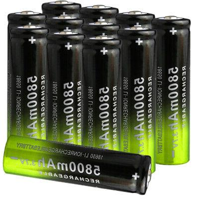 12x rechargeable batteries 3 7v 5800mah battery