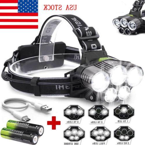 160000LM T6 LED Headlamp Headlight Flashlight
