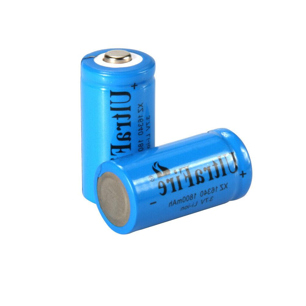 UltraFire 16340 Battery 1800mAh CR123A 3.7V Bat