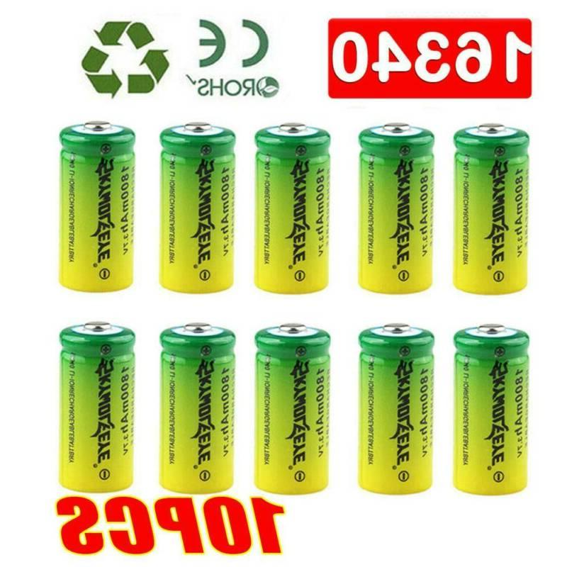 16340 Rechargeable Lithium Batteries & 4Slot USB Chargers US