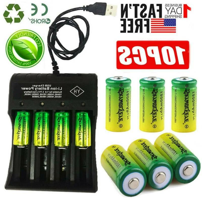 16340 cr123a battery 3 7v rechargeable lithium