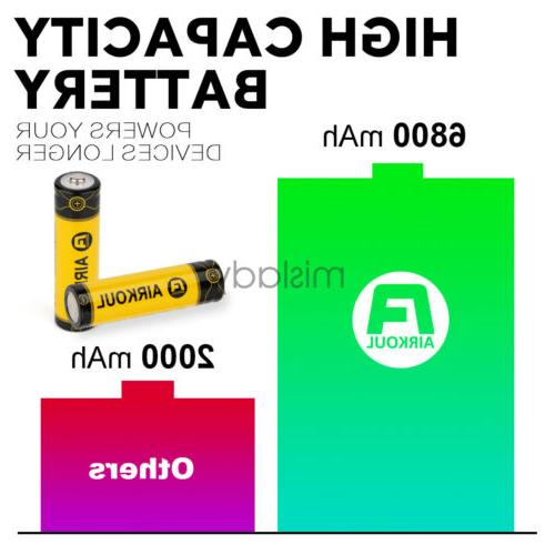 2X 6800mAh Li-ion Battery Rechargeable For Flashlight RC