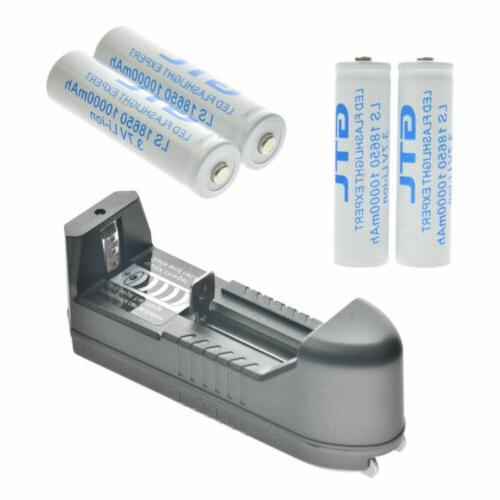 18650 3.7V Rechargeable Batteries LED Flashlight