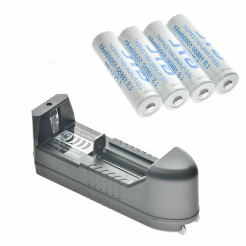 18650 Battery Li-ion 3.7V Rechargeable Batteries LED