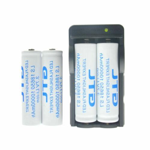 18650 Battery 10000mAh Li-ion 3.7V Rechargeable LED