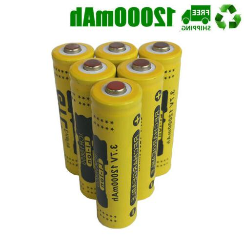 18650 12000mAh Fire For