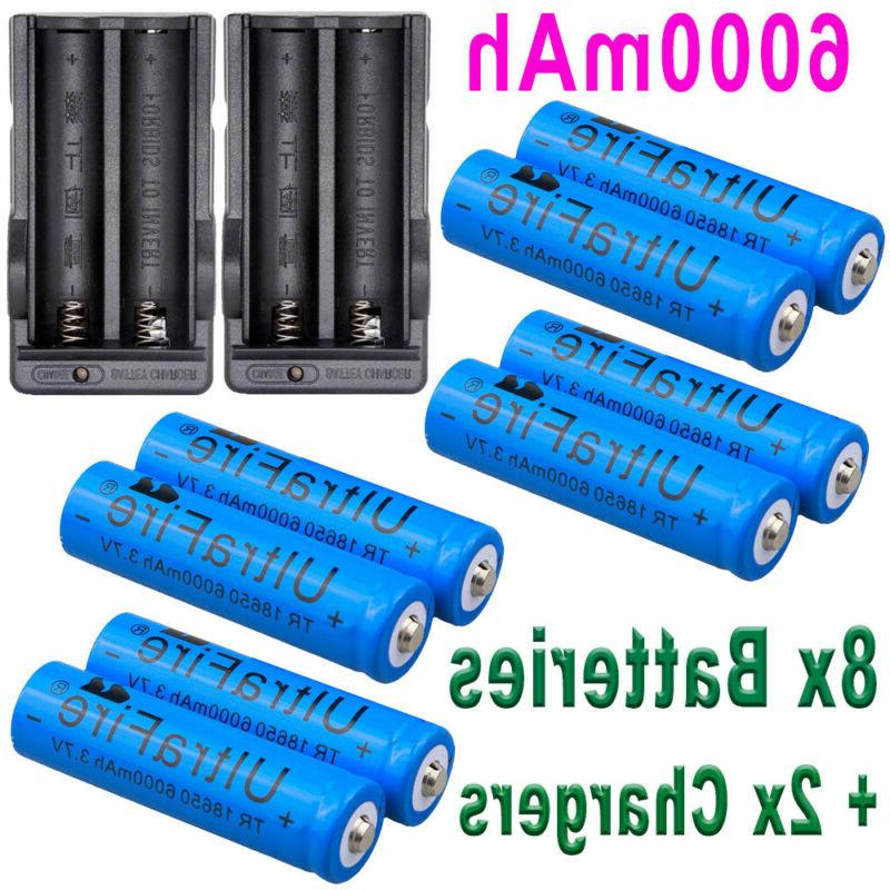 18650 3.7V Li-ion Rechargeable for LED Flashlight Lot