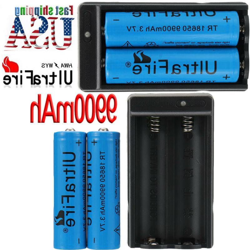 18650 3.7V Li-ion Batteries Flashlight LED Lot`