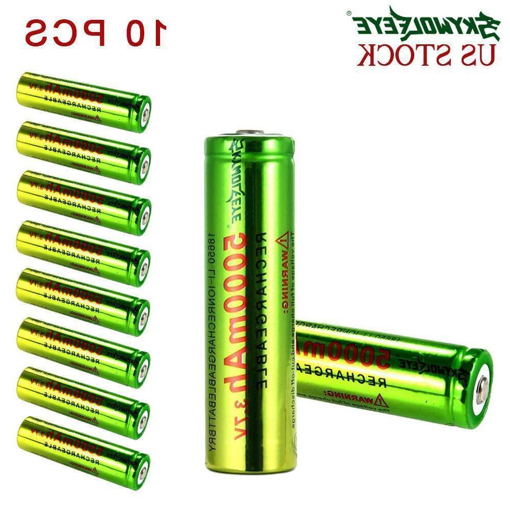 Skywolfeye 18650 Battery 3.7V Li-ion Rechargeable For Torch