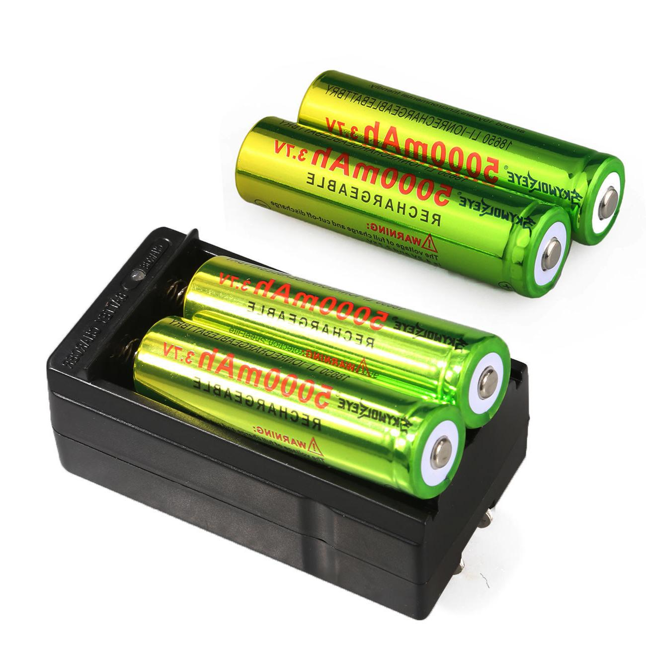 Skywolfeye 5000mAh 3.7V Li-ion Rechargeable For Torch