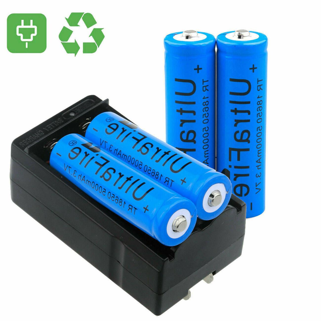 UltraFire 18650 5000mAh Li-ion Rechargeable For LED Flashlight