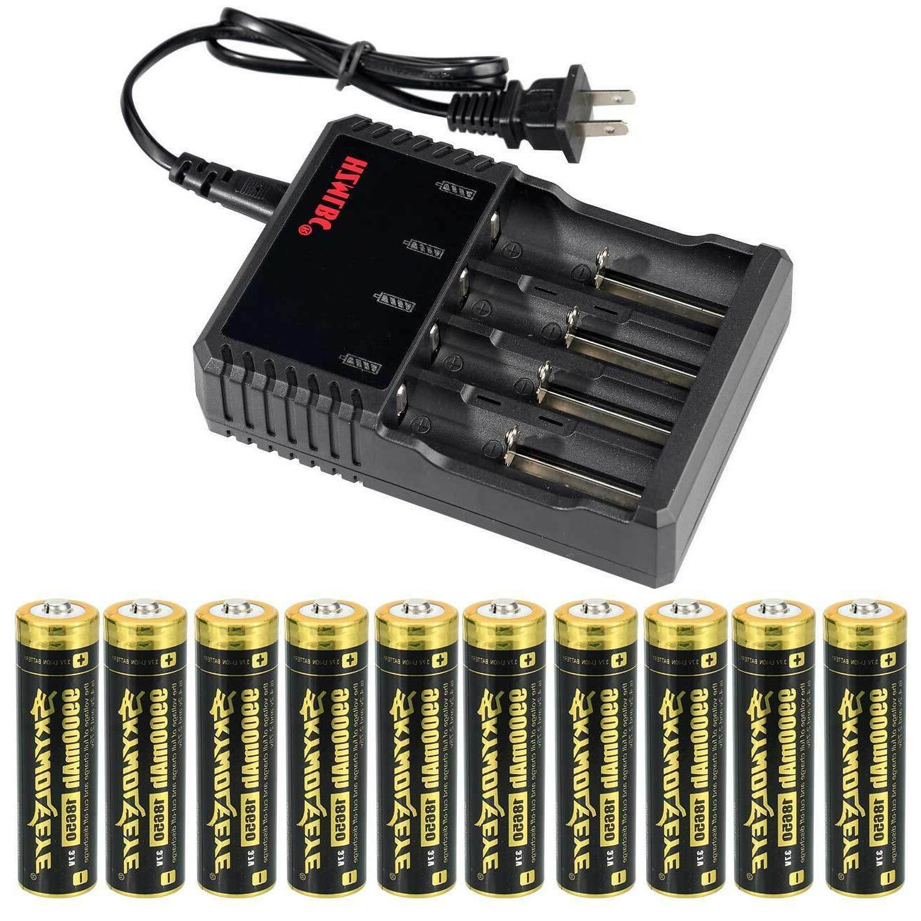 Skywolfeye 18650 Battery 9900mAh Li-ion 3.7V Rechargeable Fo