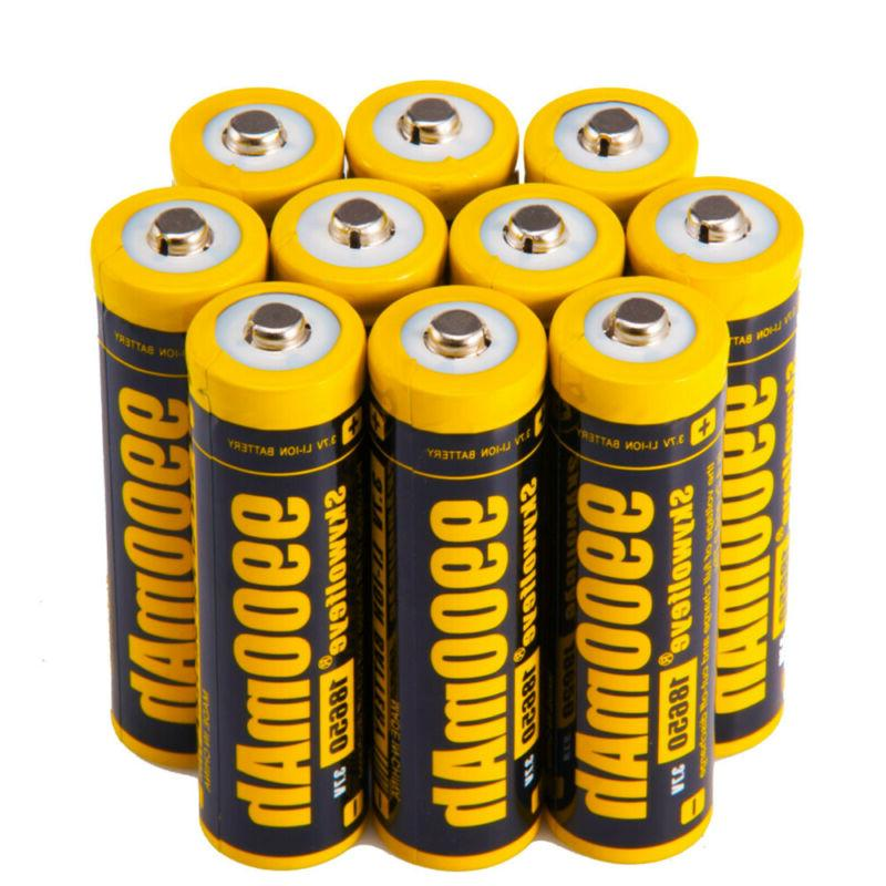 skywolfeye 18650 battery 9900mah li ion 3