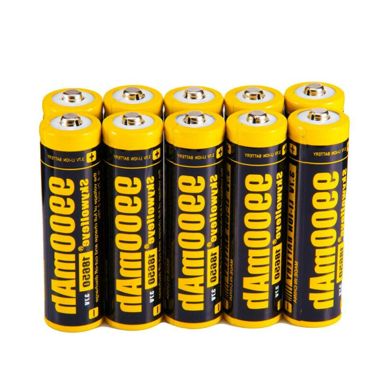 Skywolfeye 18650 Battery Li-ion Rechargeable LED