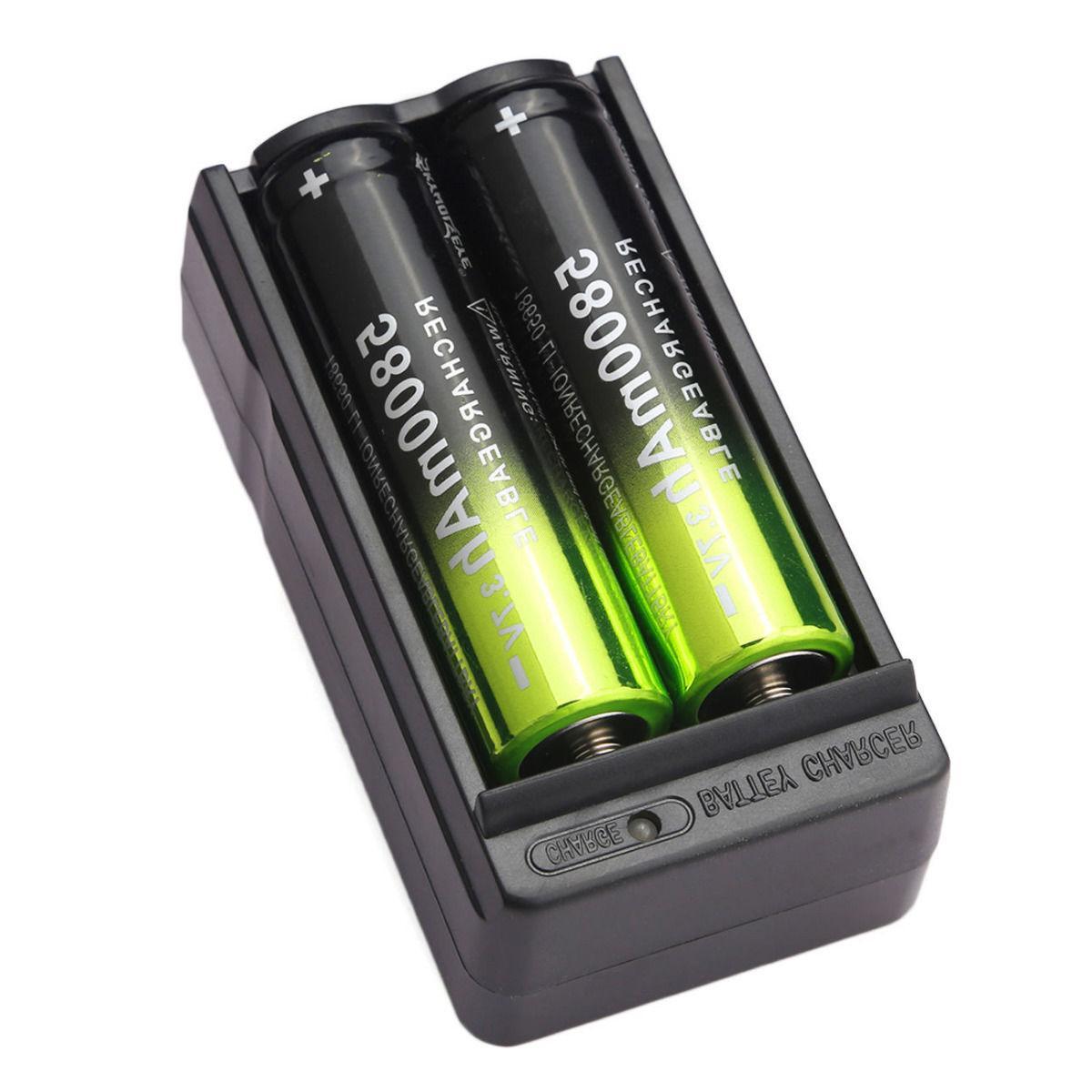 4X Battery 5800mAh 3.7V Charger Flashlight