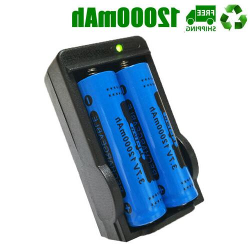 18650 Battery 12000mAh Fire Li-ion For Flashlight