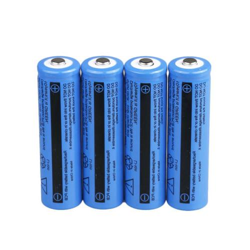 Lot 18650 3.7V Rechargeable For LED Flashlight Torch