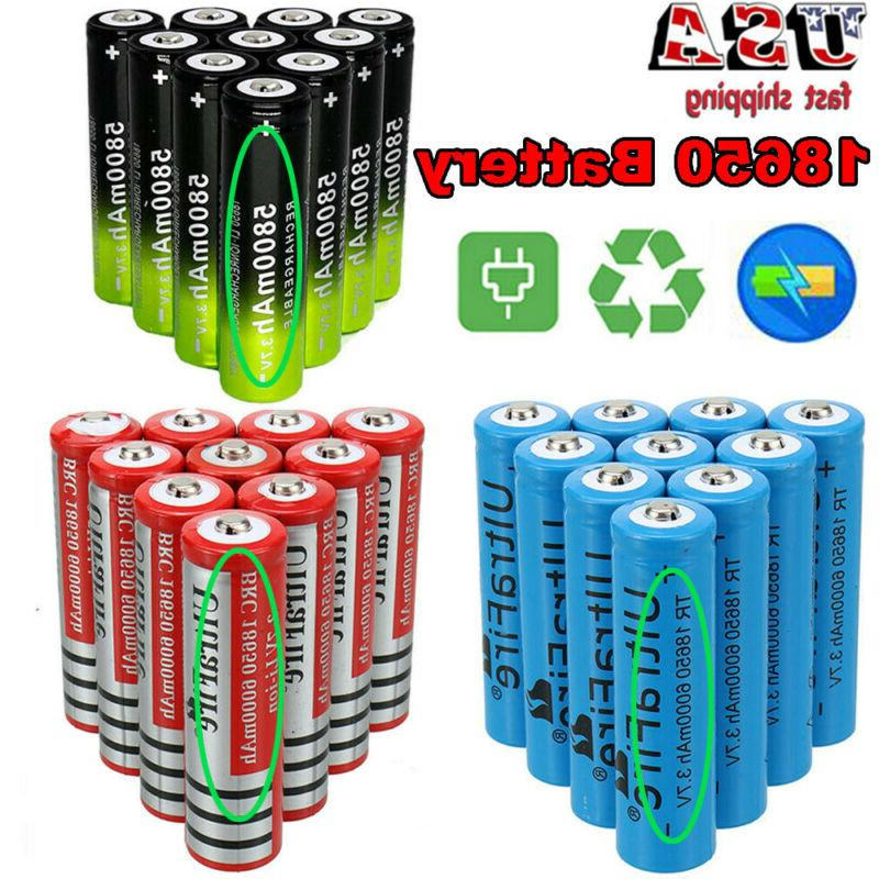 18650 Battery Li-ion 3.7V Rechargeable Battery For Flashligh