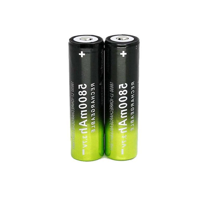 18650 Rechargeable Battery Li-ion LED Flashlight