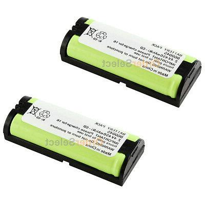 2 NEW Cordless Phone Battery for Panasonic HHR-P105 HHR-P105