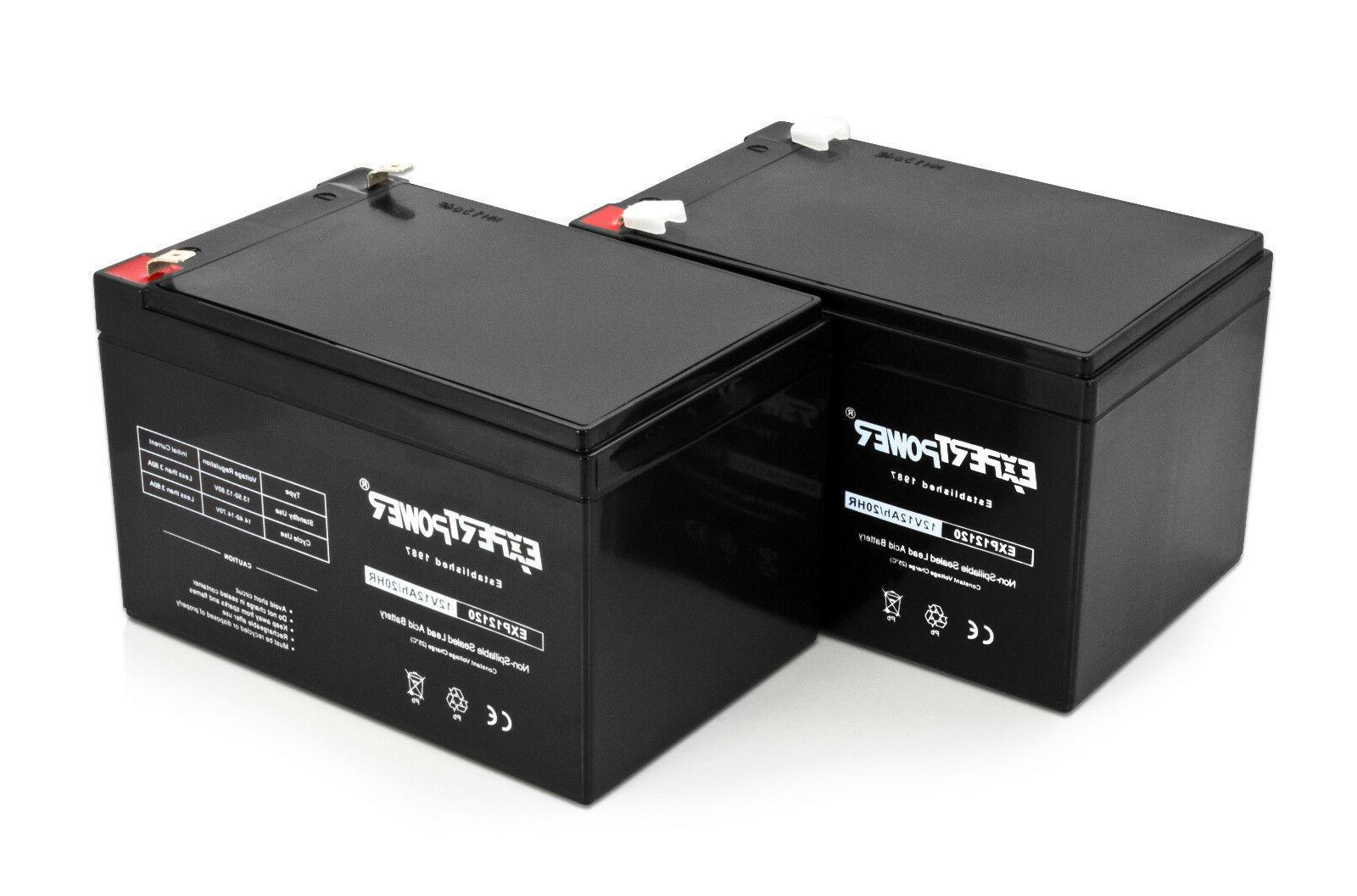 2 pack 12 volt 12 ah rechargeable