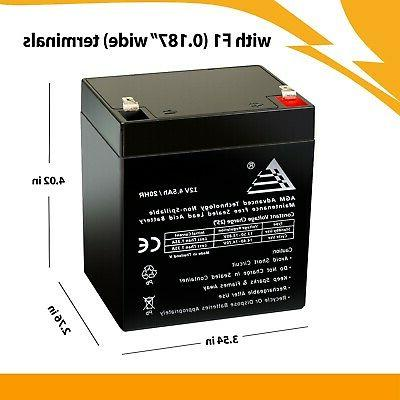 2 Pack: 12V 4.5Ah Rechargeable for