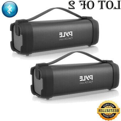2 portable bluetooth wireless speaker rechargeable battery